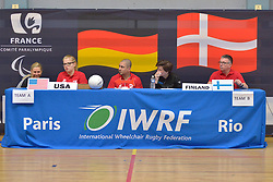 USA V Finland at the 2016 IWRF Rio Qualifiers, Paris, France
