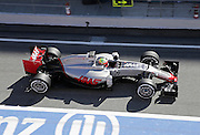 March 1, 2016 - Barcelona, Spain - <br /> <br /> BARCELONA -march 01- SPAIN: Esteban Gutierrez and Haas during the F1 tests in the Barcelona-Catalunya Circuit, on march 01, 2016.<br /> ©Exclusivepix Media