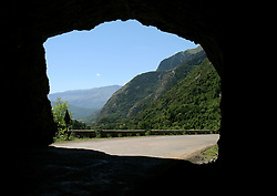 SPAIN BANOS DE BENSASQUE - Tunnel hewn into mountain rock to make way for pass road...jre/Photo by Jiri Rezac..© Jiri Rezac 2005..Contact: +44 (0) 7050 110 417.Mobile:  +44 (0) 7801 337 683.Office:  +44 (0) 20 8968 9635..Email:   jiri@jirirezac.com.Web:     www.jirirezac.com..© All images Jiri Rezac 2005 - All rights reserved.