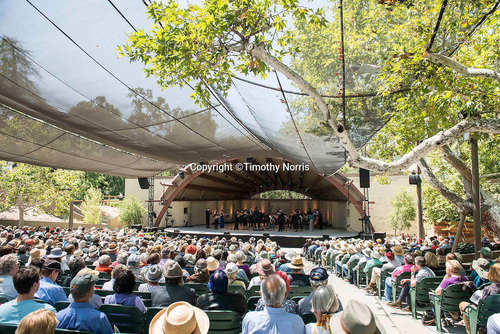 "The Knights, conducted by Eric Jacobsen, perform Mozart's Symphony No. 41, ""Jupiter"" at the 68th Ojai Music Festival at Libbey Bowl on June 15, 2014 in Ojai, California."