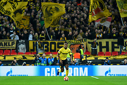 February 13, 2019 - London, England, United Kingdom - Borussia Dortmund defender Dan-Axel Zagadou during the UEFA Champions League match between Tottenham Hotspur and Ballspielverein Borussia 09 e.V. Dortmund at Wembley Stadium, London on Wednesday 13th February 2019. (Credit: Jon Bromley | MI News & Sport Ltd) (Credit Image: © Mi News/NurPhoto via ZUMA Press)