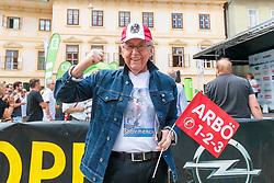 03.07.2017, Wien, AUT, Ö-Tour, Österreich Radrundfahrt 2017, 1. Etappe von Graz nach Wien (193,9 km), im Bild Radsport Fan Eddy Merckx // during the 1st stage from Graz to Vienna (193,9 km) of 2017 Tour of Austria. Wien, Austria on 2017/07/03. EXPA Pictures © 2017, PhotoCredit: EXPA/ JFK