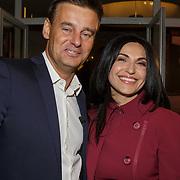 NLD/Hilversum/20190131 - Uitreiking Gouden RadioRing Gala 2019, Wilfred Genee en partner Lili Pirayesh