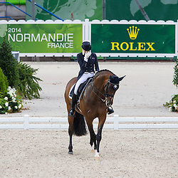 Maree Tomkinson, (AUS), Diamantina 4 - Grand Prix Team Competition Dressage - Alltech FEI World Equestrian Games™ 2014 - Normandy, France.<br /> © Hippo Foto Team - Leanjo de Koster<br /> 25/06/14