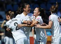 Fotball<br /> VM kvinner 2011Tyskland<br /> 27.06.2011<br /> Japan v New Zealand<br /> Foto: Witters/Digitalsport<br /> NORWAY ONLY<br /> <br /> 1:1 Jubel, v.l. Ria Percival, Torschuetzin Amber Hearn, Ali Riley, Anna Green (Neuseeland)<br /> Frauenfussball WM 2011 in Deutschland, Japan - Neuseeland