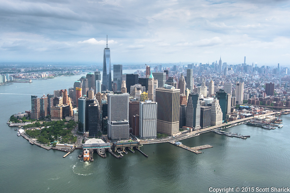 Image made in an open door helicopter tour around New York City.