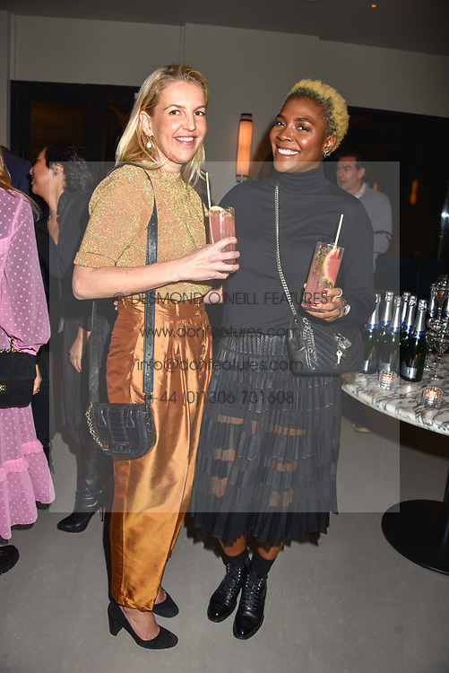 21 November 2019 - Hanneli Rupert and Zeze Oriaikhi-Sao at the launch of Sam's Riverside Restaurant, 1 Crisp Walk, Hammersmith hosted by owner Sam Harrison, Edward Taylor and Jack Brooksbank.<br /> <br /> Photo by Dominic O'Neill/Desmond O'Neill Features Ltd.  +44(0)1306 731608  www.donfeatures.com