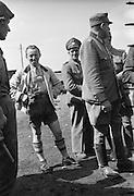 German Volkstrum in strange mountain dress. April 1945, Germany