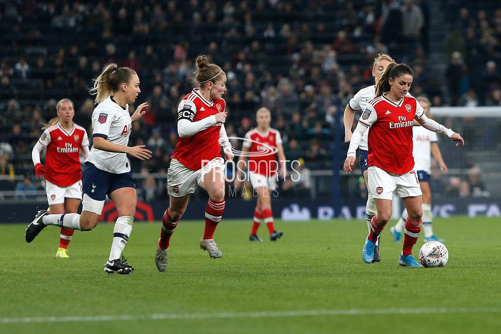 Danielle Van De Donk in action during the FA Women's Super League match between Tottenham Hotspur Women and Arsenal Women FC at Tottenham Hotspur Stadium, London, United Kingdom on 17 November 2019.