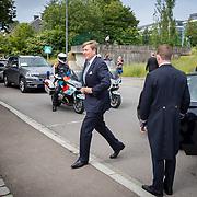 LUX/Luxembug/201805255 - Staatbezoek Luxemburg 2018 dag 3, aankomst Ontmoeting Nederlandse Gemeenschap van Willem-Alexander