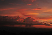 Sunset during monsoon is seen from Windy Point, Mount Lemmon, Coronado National Forest, Sonoran Desert, a Sky Island near Tucson, Arizona, USA.