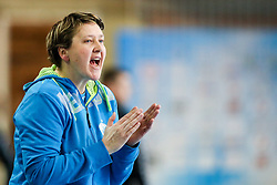 Nataliya Derepasko, head coach of RK Ljubljana during handball match between RK Ljubljana and ZRK Z Dezele in Bronze Medal game of Slovenian Women Handball Cup 2017/18, on April 1, 2018 in Park Kodeljevo, Ljubljana, Slovenia. Photo by Matic Klansek Velej / Sportida