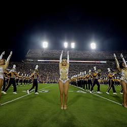 Oct 12, 2019; Baton Rouge, LA, USA; The LSU Tigers band and Golden Girls dance team performs prior to kickoff against the Florida Gators at Tiger Stadium. Mandatory Credit: Derick E. Hingle-USA TODAY Sports