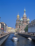 Church on Spilled Blood and The Griboyedov<br /> Canal<br /> St. Petersburg, Russia