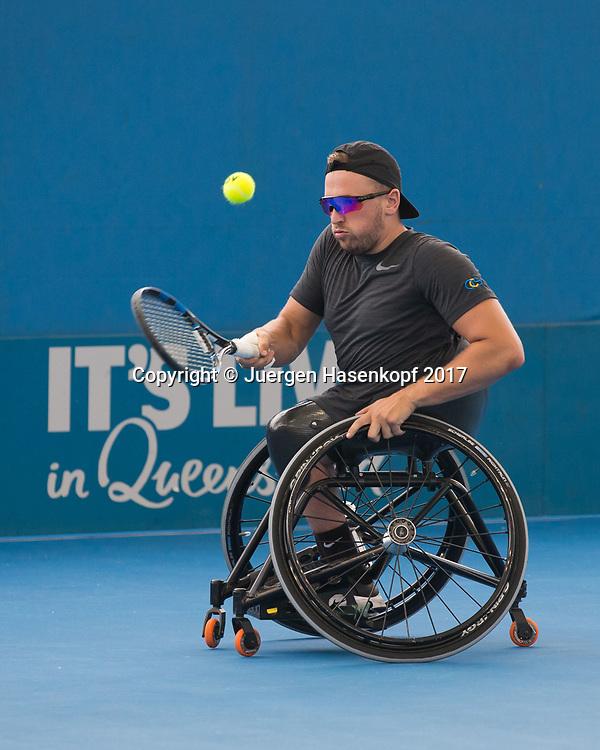 DYLAN ALCOTT(AUS), Rollstuhl Tennis<br /> <br /> Tennis - Brisbane International  2017 - ITF -  Pat Rafter Arena - Brisbane - QLD - Australia  - 6 January 2017. <br /> &copy; Juergen Hasenkopf