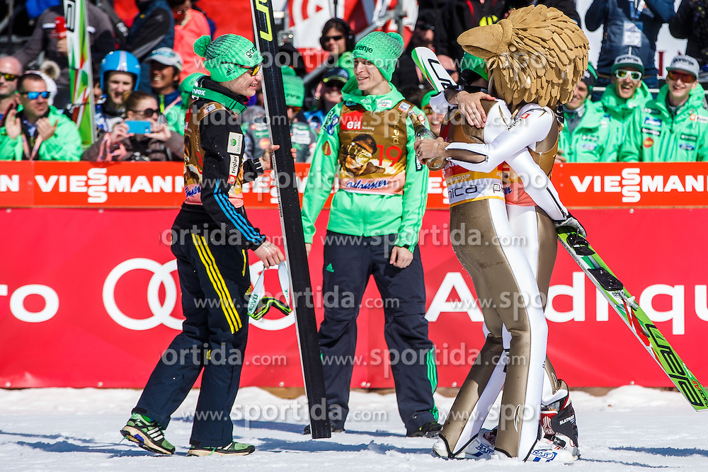 Robert Kranjec (SLO), Peter Prevc (SLO), Jurij Tepes (SLO) and Anze Lanisek (SLO) during the Ski Flying Hill Individual Competition at Day 4 of FIS Ski Jumping World Cup Final 2016, on March 20, 2016 in Planica, Slovenia. Photo by Grega Valancic / Sportida