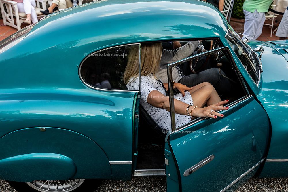 Como, Italy, Concorso d'Eleganza Villa D'Este, Fiat 8V, entrant Manfred Schweri