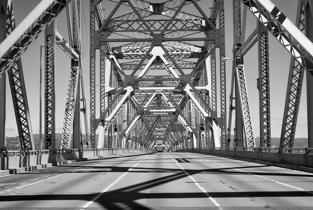 Middle of the old span upper deck