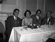 26/08/1959<br /> 08/26/1959<br /> 26 August 1959<br /> Spanish students at a performance of the Gael - Linn Cabaret at the Central Hotel, Dublin. Some of the Spanish party.