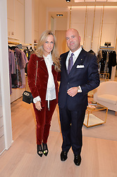 MASSIMILIANO MAZZANTI Consul General of Italy and NICOLETTA SPAGNOLI Managing Director and President of Luisa Spagnoli Ltd at the launch of the Luisa Spagnoli Flagship store at 171 Piccadilly, London on 13th October 2016.