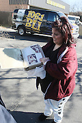 "Lucielle Selg at Shred Your Ex and Shred Chris Brown CDs and Posters for Pre-Valentines Day Bash held at WBLI Studios in West Babylon, Long Island on February 13, 2009..""Shred Your Ex"" party the day before Valentines Day. Radio Station WBLI has invited members of Rihanna's Fan Club and other fans across the nation to join the pop star's side along with .others who are ""unlucky in love.""."