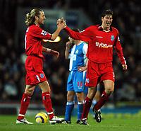 Fotball<br /> England 2004/2005<br /> Foto: BPI/Digitalsport<br /> NORWAY ONLY<br /> <br /> 21/11/2004 <br /> Blackburn Rovers v Birmingham City<br /> FA Barclays Premiership, Ewood Park<br /> <br /> Robbie Savage congratulates Darren Anderton after he made it 1-1