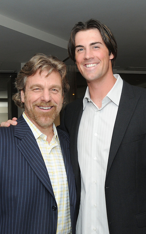 PHILADELPHIA - APRIL 06:  Sports radio personality Howard Eskin and Philadelphia Phillies starting pitcher Cole Hamels attend the launch party hosted by Philadelphia Style Magazine at The Residence at Two Liberty Place on April 6, 2009 in Philadelphia, Pennsylvania.  (Photo by Lisa Lake/WireImage for Philadelphia Style Magazine)