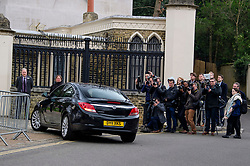 © Licensed to London News Pictures. 29/03/2017. London, UK. Photographers watch as guests arrives. The funeral of pop singer George Michael takes place at Highgate Cemetery in north London. George Michael died unexpectedly at his home in North London in what a coroner ruled to be natural circumstances. Photo credit: Ben Cawthra/LNP