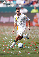 20 May 2007: Galaxy midfielder #18 Kyle Martino dribbles the ball during a 1-1 tie for MLS Chivas USA vs. Los Angeles Galaxy pro soccer teams at the Home Depot Center in Carson, CA.