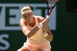 March 09, 2018: Petra Kvitova (CZE) defeated Yulia Putintseva (KAZ) 6-7 (4), 7-6 (3), 6-4 at the BNP Paribas Open played at the Indian Wells Tennis Garden in Indian Wells, California. ©Mal Taam/TennisClix/CSM/Sipa USA(Credit Image: © Mal Taam/CSM/Sipa USA)