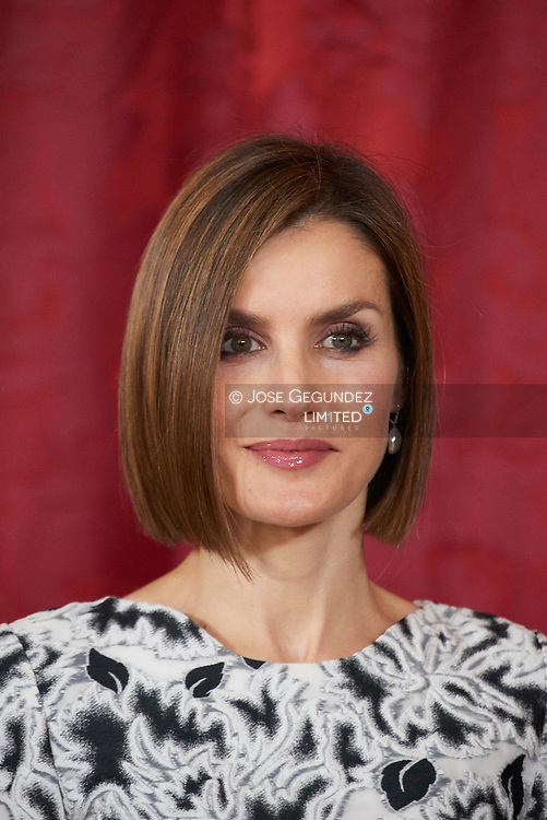 Queen Letizia of Spain attended a lunch to the President of the Republic of Paraguay, Mr. Horacio Cartes Jara at Palacio Real on June 9, 2015 in Madrid