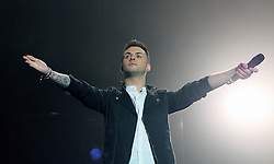 © Licensed to London News Pictures. 04/10/2014, UK. Union J; Jaymi Hensley, Girlguiding BIG GIG, SSE Arena Wembley, London UK, 04 October 2014. Photo credit : Richard Goldschmidt/Piqtured/LNP
