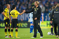 23.07.2011, Veltins arena, Gelsenkirchen, GER, Supercup, FC Schalke 04 vs. Borussia Dortmund, im Bild Shinji Kagawa (#23 Dortmund) - Juergen Klopp (Trainer Dortmund) // during the match FC Schalke 04 vs. Borussia Dortmund at Veltins arena 2011/07/23    EXPA Pictures © 2011, PhotoCredit: EXPA/ nph/  Kurth       ****** out of GER / CRO  / BEL ******