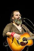 """Singer songwriter, Steve Earle performing at the Paramount Theater in Austin Texas, June 19, 2009.  Due to his uncompromising songs he is known as """"the hardcore troubadour"""".  Earle performed songs from his recent tribute to his mentor, Townes Van Zandt."""
