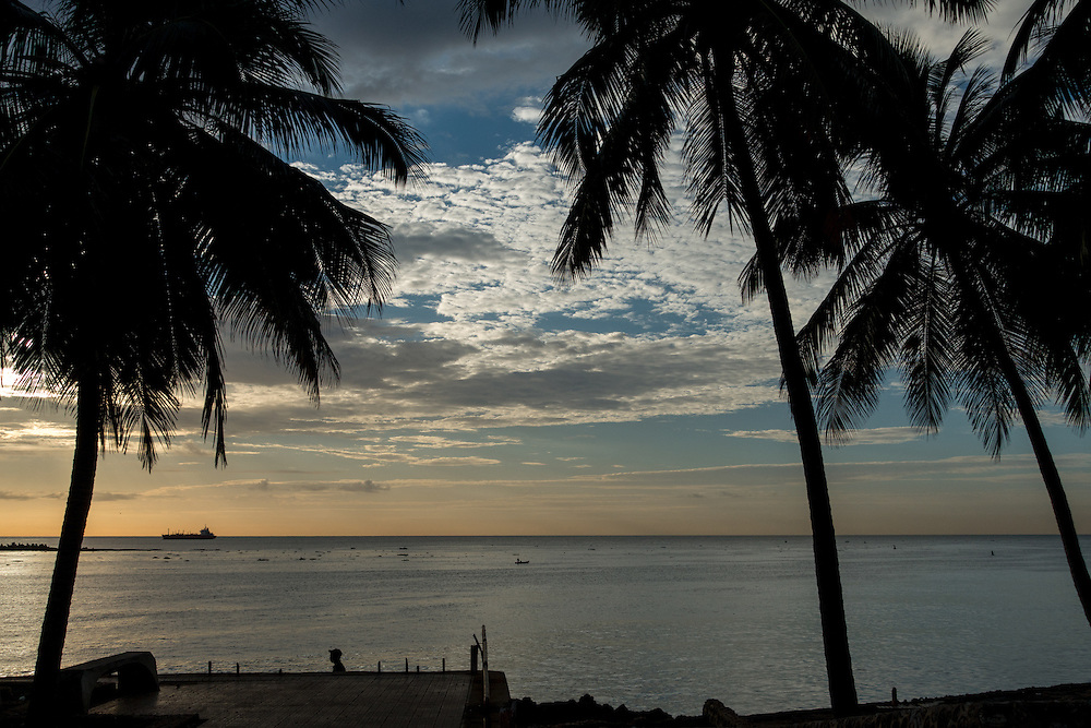 SANTO DOMINGO, DOMINICAN REPUBLIC-DECEMBER 5, 2014: Sunrise in Santo Domingo's Malecon. Story on tourism to the Caribbean Island.  (Photo by Angel Valentin/Getty Images for Der Spiegel)