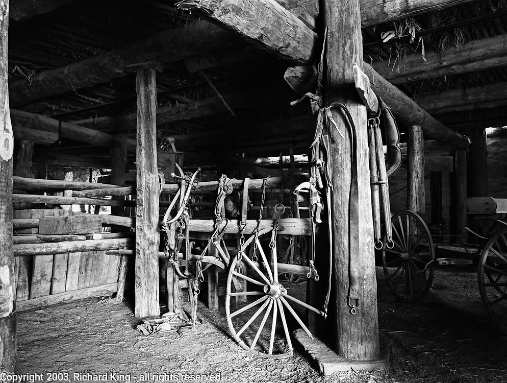 Barn Interior, Hubbell's Trading Post, AZ