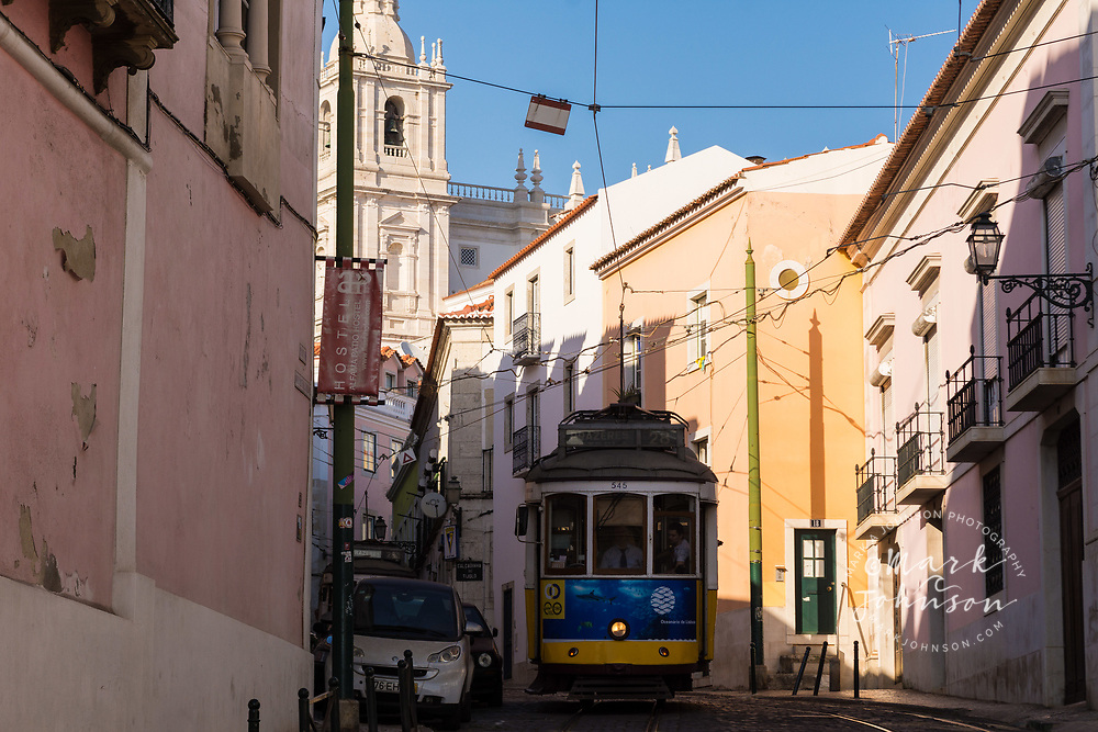 Tram (street car), Lisbon, Portugal