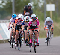 LONDON UK 29TH JULY 2016:  Youth B Girls' Race. Prudential RideLondon Grand Prix at the London Velo Park. Prudential RideLondon in London 29th July 2016<br /> <br /> Photo: Jed Leicester/Silverhub for Prudential RideLondon<br /> <br /> Prudential RideLondon is the world's greatest festival of cycling, involving 95,000+ cyclists – from Olympic champions to a free family fun ride - riding in events over closed roads in London and Surrey over the weekend of 29th to 31st July 2016. <br /> <br /> See www.PrudentialRideLondon.co.uk for more.<br /> <br /> For further information: media@londonmarathonevents.co.uk