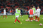England Forward Daniel Sturridge in warm up during the FIFA World Cup Qualifier group stage match between England and Scotland at Wembley Stadium, London, England on 11 November 2016. Photo by Phil Duncan.