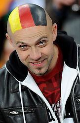 A German fan with a painted head during the 2010 FIFA World Cup South Africa Group D match between Ghana and Germany at Soccer City Stadium on June 23, 2010 in Johannesburg, South Africa.