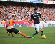 Dundee&rsquo;s Kane Hemmings goes past Dundee united\s Coll Donaldson - Dundee United v Dundee in the Ladbrokes Premiership at Tannadice<br /> <br />  - &copy; David Young - www.davidyoungphoto.co.uk - email: davidyoungphoto@gmail.com