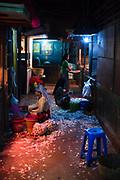 Pasar Pabean fruits and vegetables market located in Surabaya city
