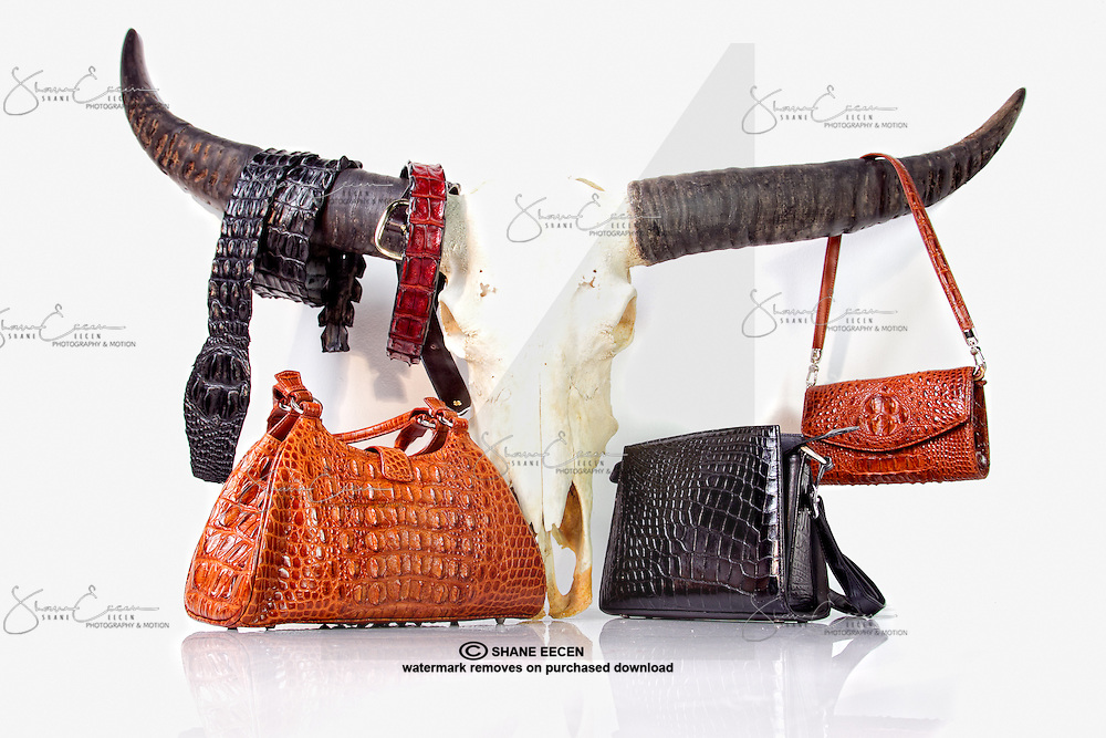 Delaneys Croc Bags and Belts. Photo Shane Eecen
