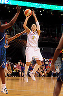 June 10, 2010; Phoenix, AZ, USA; Phoenix Mercury guard Diana Taurasi puts up a basket during the second half in at US Airways Center.  The Mercury defeated the Lynx 99-88.  Mandatory Credit: Jennifer Stewart-US PRESSWIRE
