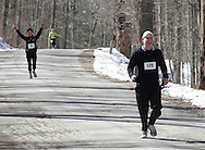 Mamakating, New York - Runners compete in the Wurtsboro Mountain 30K road race on March 20, 2011.