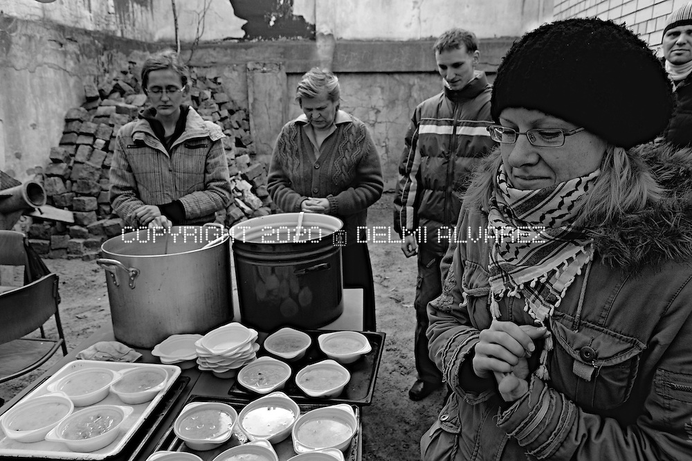 Peteris soup is a story by Peteris a former prisoner in latvian prison that every saturday help to organize the soup day for homeless in Riga, Latvia. By the morning Peteris and his team delivery a dish of soup to anyone that goes the courtyeard of a baptist church in Matisa iela. This project is included inside the latvian prisons story began in 2006 and finished in 2011, visiting and documenting six prisons of Latvia. The latvian prisons are the worst in the baltics and Europe. European Comittee to Protection against Torture visited the latvian prisons for many years ago warning authorities about the bad situtation of prisons.