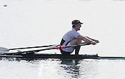Caversham. Berkshire. UK<br /> Semi Fianl A/B 2, Dave BELL, out front at 750m to go.<br /> 2016 GBRowing U23 Trials at the GBRowing Training base near Reading, Berkshire.<br /> <br /> Tuesday  12/04/2016<br /> <br /> [Mandatory Credit; Peter SPURRIER/Intersport-images]