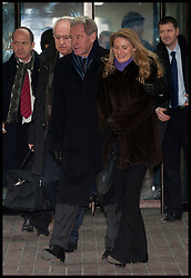 Portsmouth Chairman Milan Mandoric with his daughter Yasmina leaving  Southwark Crown court after being found 'Not guilty' alongside Harry Redknapp of evading tax to the Inland, Wednesday February 8th, 2012. Photo By i-Images