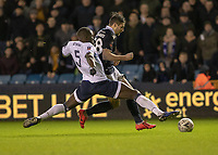 Football - 2018 / 2019 Emirates FA Cup - Fourth Round: Millwall vs. Everton<br /> <br /> Kurt Zouma (Everton FC ) times his tackle well as Millwall turn on the pressure at The Den.<br /> <br /> COLORSPORT/DANIEL BEARHAM