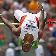 WARE - 13USA, Des Moines, Ia.  - Torian Ware makes the opening height in the high jump.   Photo by David Peterson